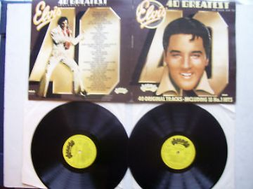 Elvis Presley 40 Greatest Hits  Double LP